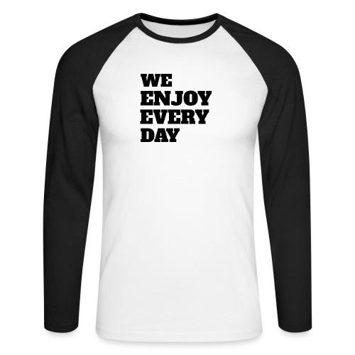 Enjoy - T-shirt baseball manches longues Homme