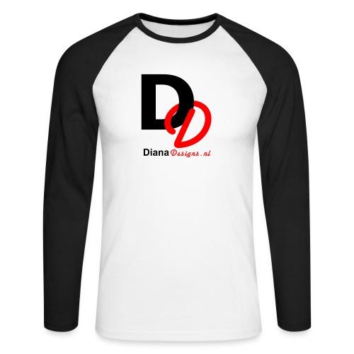 logo_diana_designs-nl - Mannen baseballshirt lange mouw
