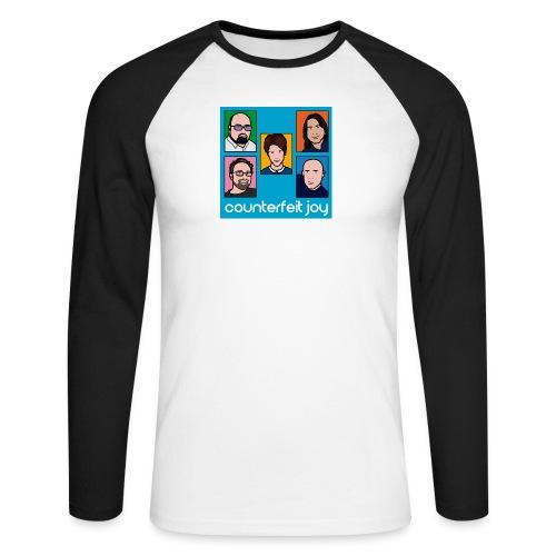 Counterfeit Joy logo2 - Men's Long Sleeve Baseball T-Shirt