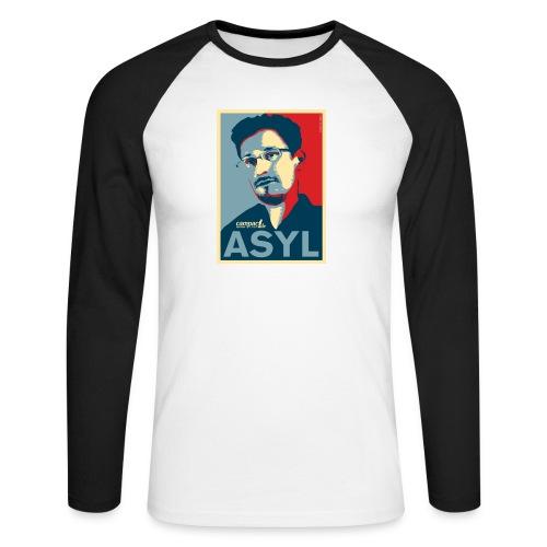 Asyl für Edward Snowden - Männer Baseballshirt langarm