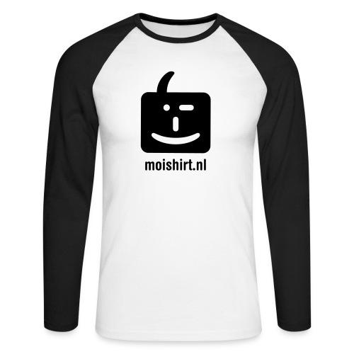 moi shirt back - Mannen baseballshirt lange mouw