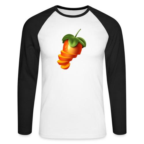 Sliced Sweaty Fruit - Men's Long Sleeve Baseball T-Shirt