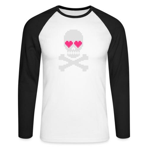 Skull Love - Mannen baseballshirt lange mouw