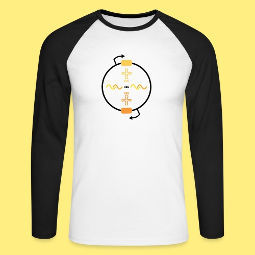 Biocontainment tRNA - shirt men - Mannen baseballshirt lange mouw