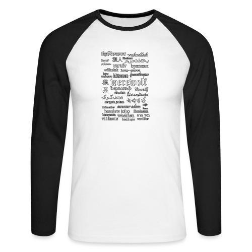 Werewolf in 33 Languages (Black Version) - Koszulka męska bejsbolowa z długim rękawem