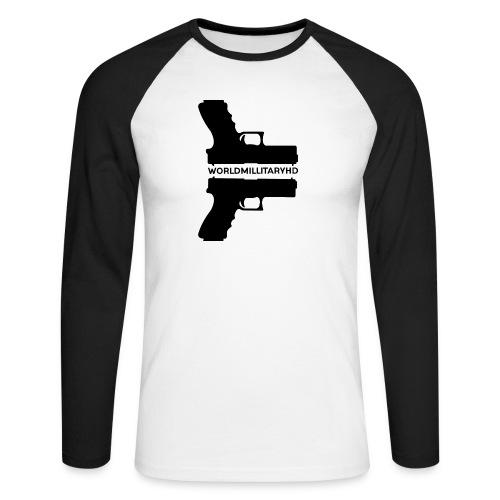 WorldMilitaryHD Glock design (black) - Mannen baseballshirt lange mouw