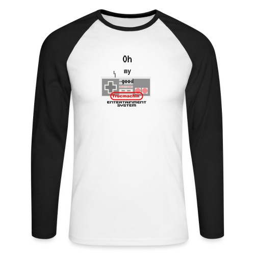oh my good nes - T-shirt baseball manches longues Homme