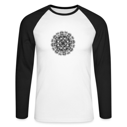 Flower mix - Langærmet herre-baseballshirt