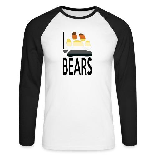 I love bears - T-shirt baseball manches longues Homme