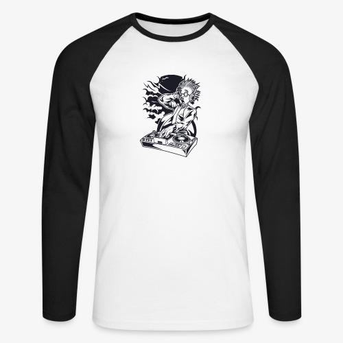 Dj scientifique fou - T-shirt baseball manches longues Homme