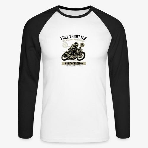 Plein gaz - T-shirt baseball manches longues Homme