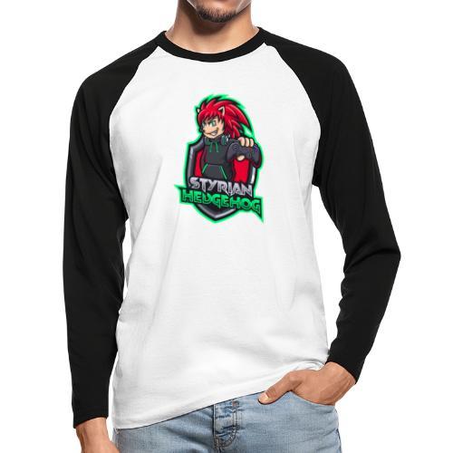 styrian hedgehog Logo - Männer Baseballshirt langarm