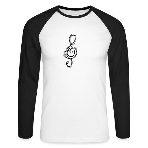 Violinschlüssel - Männer Baseballshirt langarm