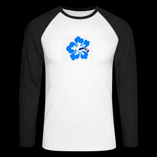 hawaiian flower - Men's Long Sleeve Baseball T-Shirt