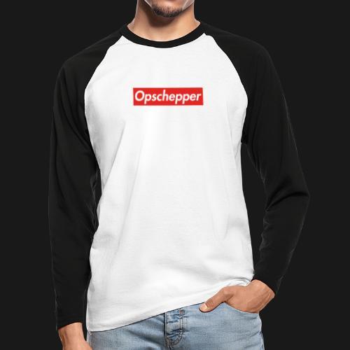Opschepper Classic (Rood) - Mannen baseballshirt lange mouw