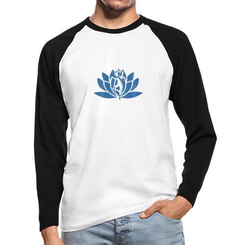 fleur de lotus yoga - T-shirt baseball manches longues Homme