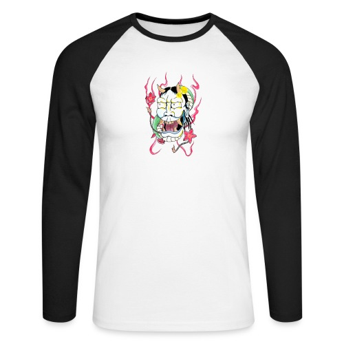 hannya mask - Men's Long Sleeve Baseball T-Shirt