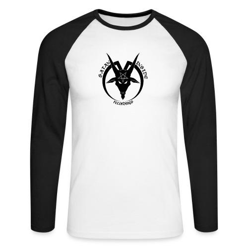 Camis nuevas Satan Inside Recordings png - Men's Long Sleeve Baseball T-Shirt