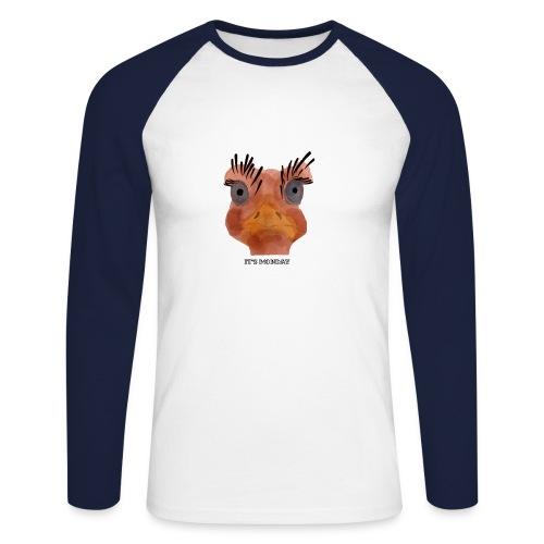Srauss, again Monday, English writing - Men's Long Sleeve Baseball T-Shirt
