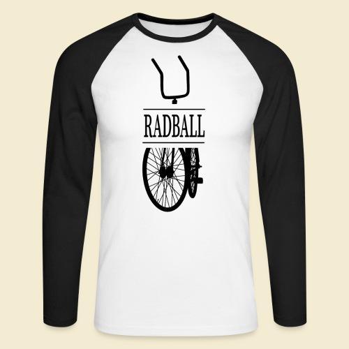 Radball   Retro Black - Männer Baseballshirt langarm