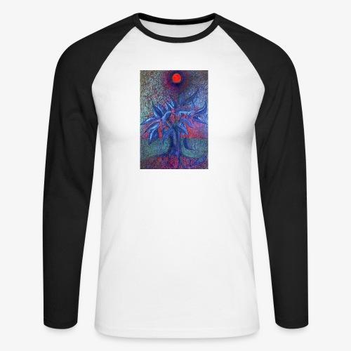 DrzewoKwiat - Koszulka męska bejsbolowa z długim rękawem