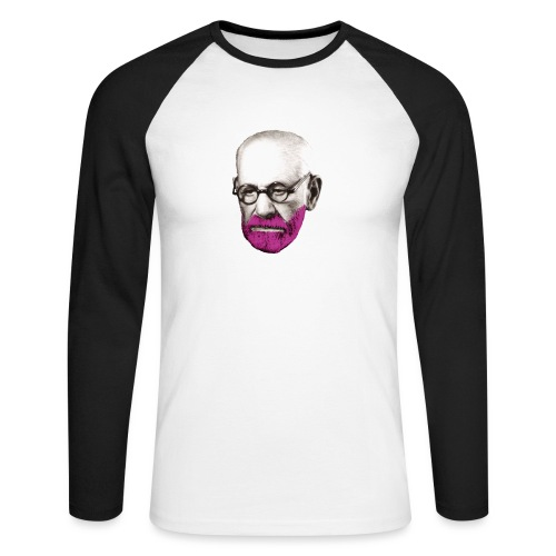 Pink Freud - Men's Long Sleeve Baseball T-Shirt