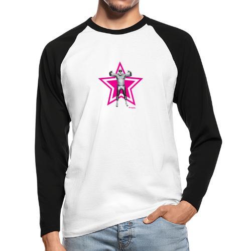 Hazy Logo - Männer Baseballshirt langarm