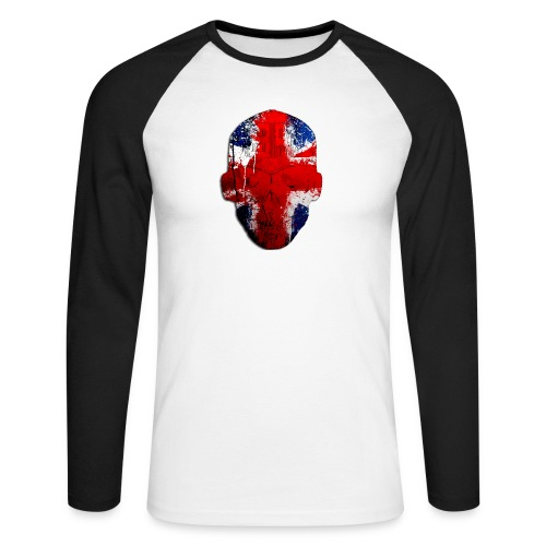 Borg recordings uk Union flag MetaSkull T Shirt - Men's Long Sleeve Baseball T-Shirt