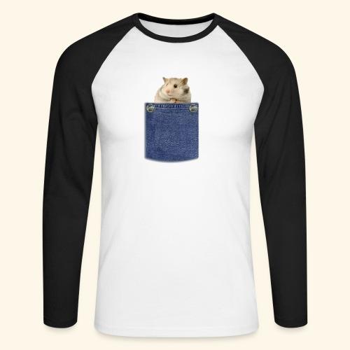 hamster in the poket - Maglia da baseball a manica lunga da uomo