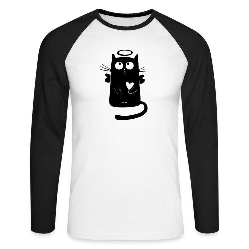 Katzengel - Männer Baseballshirt langarm