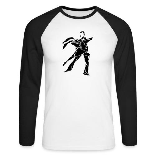 dancesilhouette - Men's Long Sleeve Baseball T-Shirt