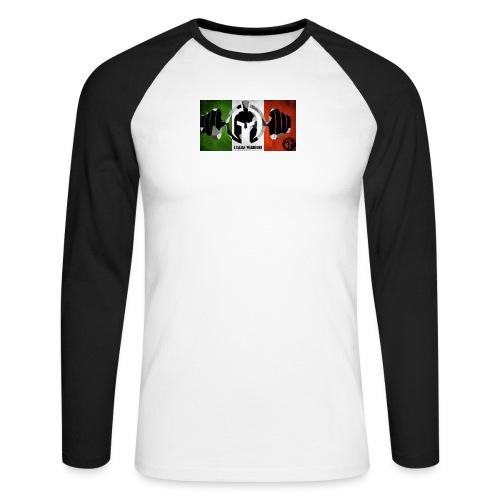 ItalianWarriors90-ItalianFlag - Maglia da baseball a manica lunga da uomo