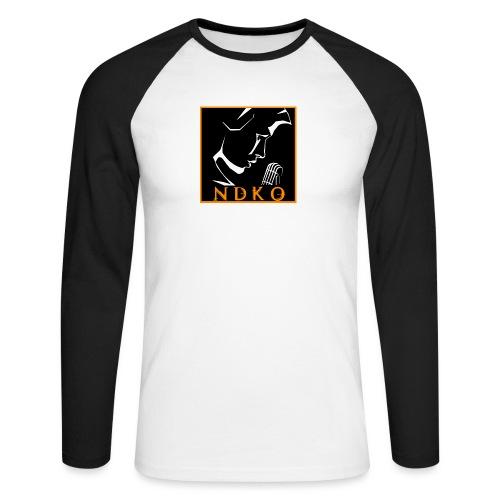 NDKO LOGO BLACK - Men's Long Sleeve Baseball T-Shirt