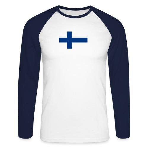 800pxflag of finlandsvg - Miesten pitkähihainen baseballpaita