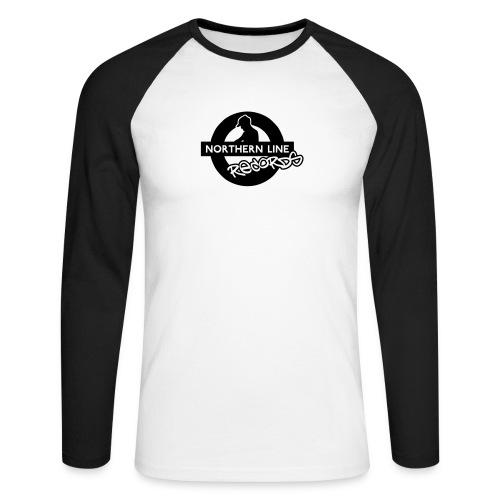 LARGE NLR LOGO - Men's Long Sleeve Baseball T-Shirt