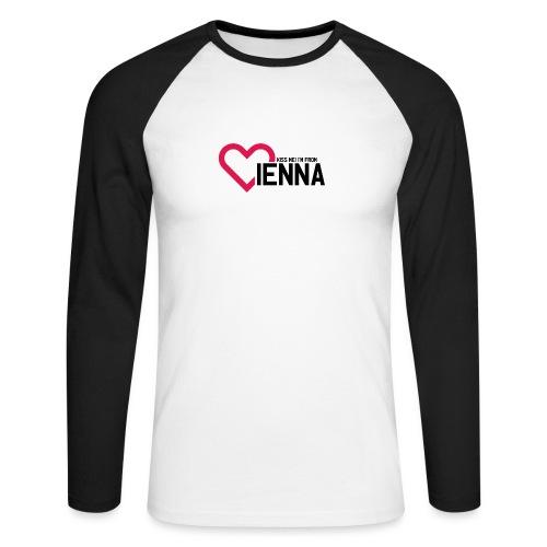 Kiss me i'm from Vienna - Männer Baseballshirt langarm