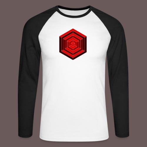 Hexagon Cube - Langærmet herre-baseballshirt