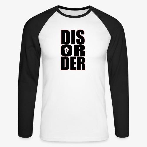 Disorder Logo Schwarz - Männer Baseballshirt langarm