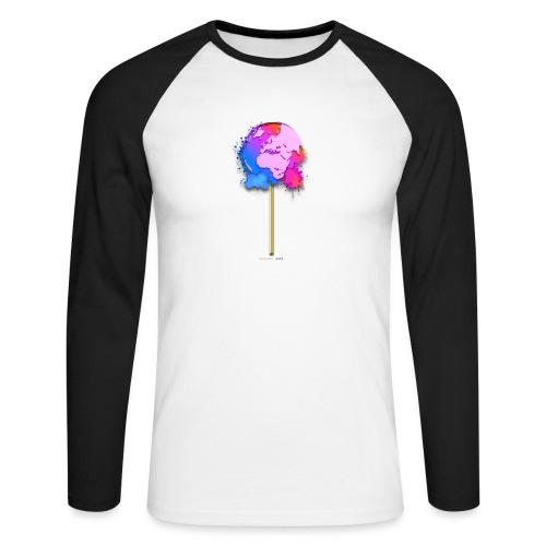 TShirt lollipop world - T-shirt baseball manches longues Homme