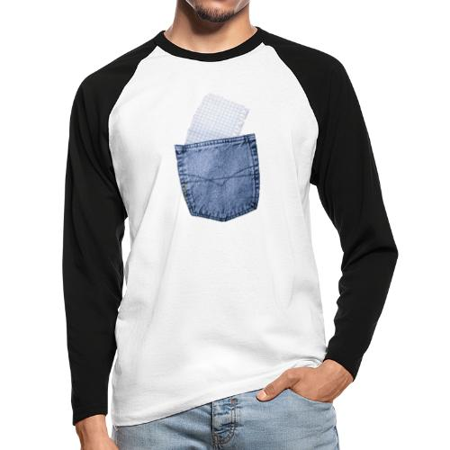 Jeans Baggy by #OneCreativeArts - Männer Baseballshirt langarm
