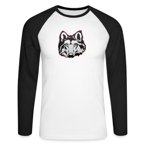 Wolfie (Red) - Men's Long Sleeve Baseball T-Shirt