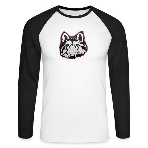 Wolfie (Red) - Men's Long Sleeve Baseball T-Shirt