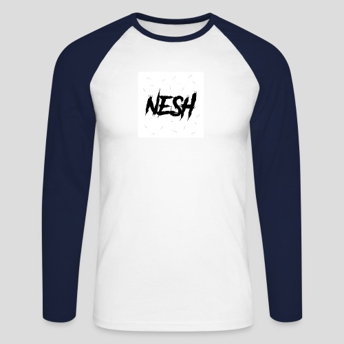 Nesh Logo - Männer Baseballshirt langarm