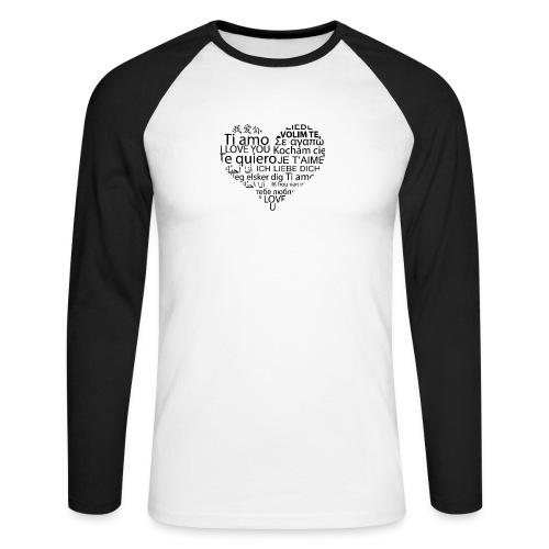 sticker je t aime en coeur ambiance sticker - Männer Baseballshirt langarm