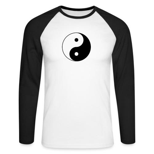 800px Yin yang svg 1 - Männer Baseballshirt langarm