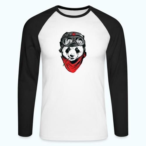 Panda pilot - Men's Long Sleeve Baseball T-Shirt