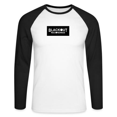 Blackout Recordings Logo2 - Men's Long Sleeve Baseball T-Shirt