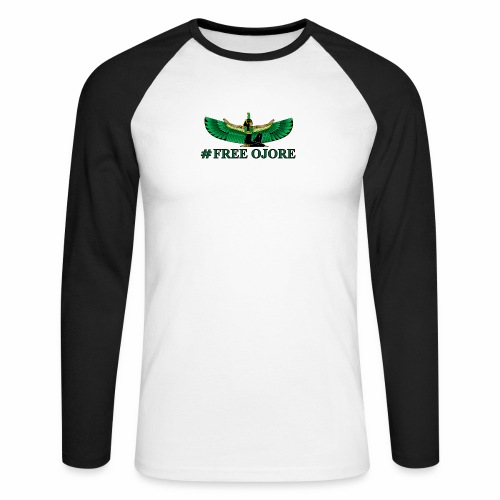 Maa-t green - Men's Long Sleeve Baseball T-Shirt