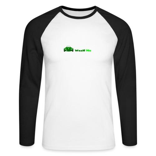 wash me - Men's Long Sleeve Baseball T-Shirt