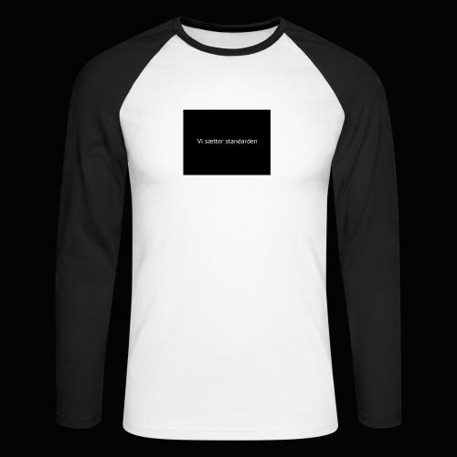 Vi Sætter Standarden - Langærmet herre-baseballshirt